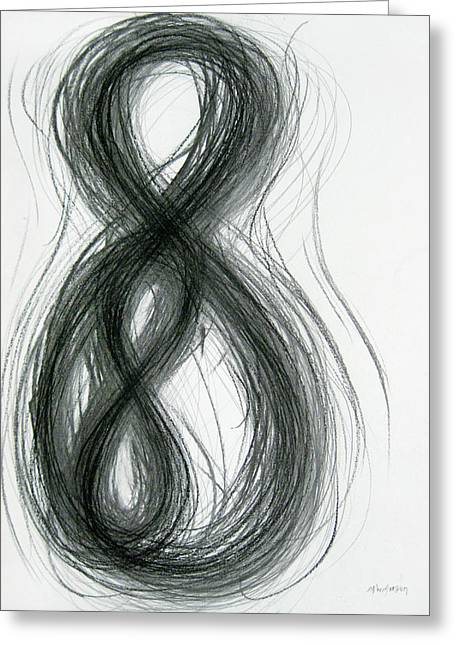 Mother And Child Figure-eight Study Greeting Card