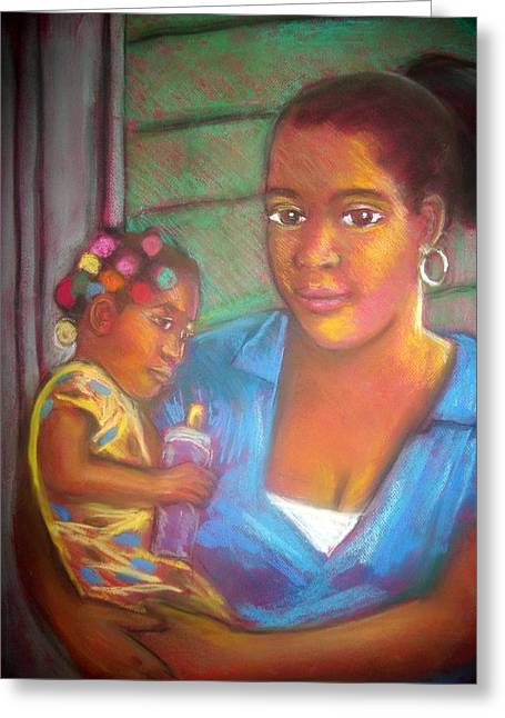 Mother And Child Greeting Card by Jan Gilmore