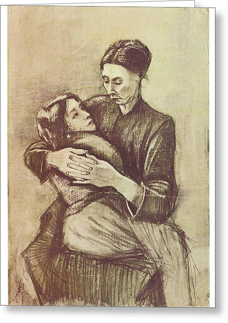 Mother And Child Greeting Card by Vincent Van Gogh