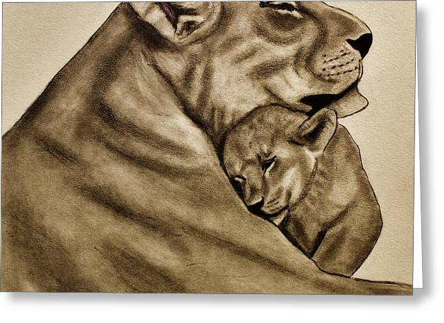 Mother And Son Greeting Card by Michael Cross
