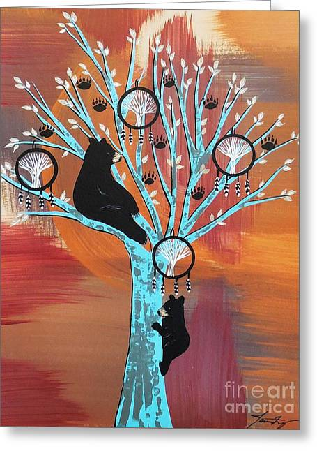 Mother Bear's Tree Of Life Greeting Card