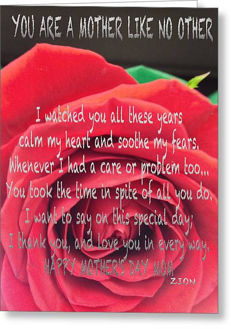 Mother Day Cards Greeting Card by Debra     Vatalaro