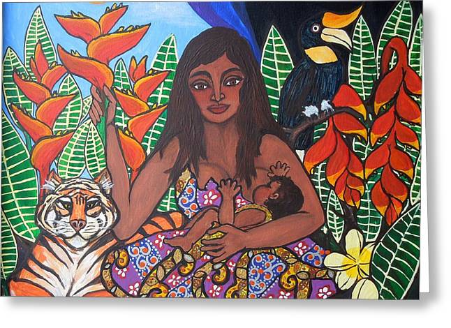 Mother Earth Sustains Greeting Card by Jennifer Mourin