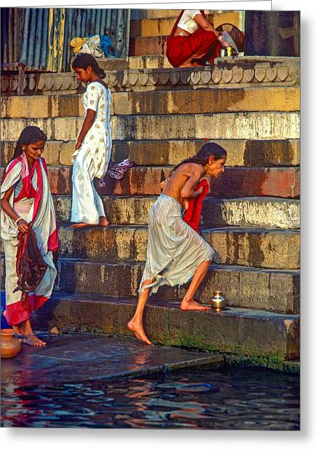 Mother Ganges Greeting Card by Steve Harrington