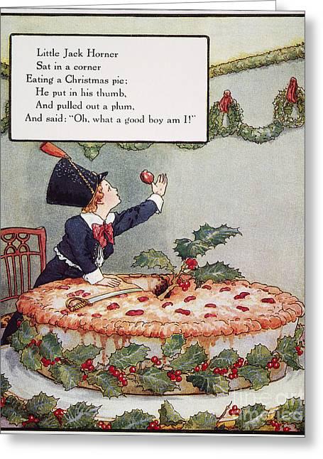 Mother Goose: Jack Horner Greeting Card
