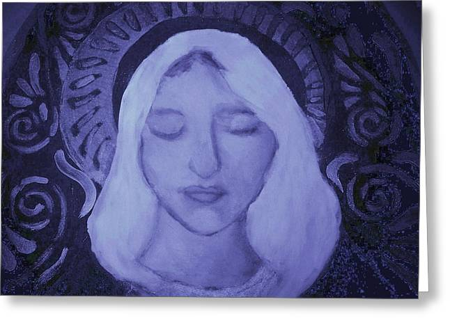 Mother Mary I Greeting Card by Shirley Moravec