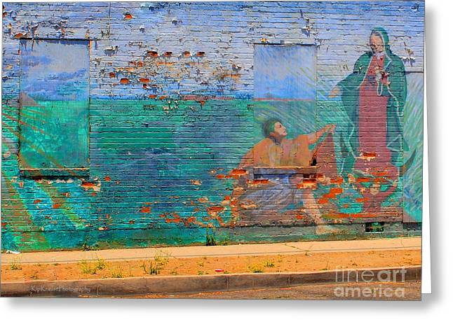 Mother Mary Greeting Card by Kip Krause