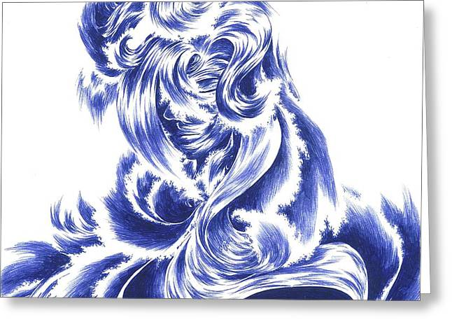 Mother Nature - Face Of The Sea Greeting Card by Alice Chen