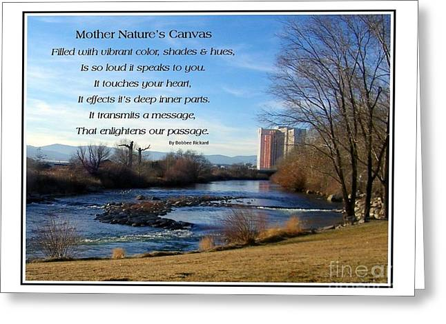 Greeting Card featuring the photograph Mother Natures Canvas by Bobbee Rickard
