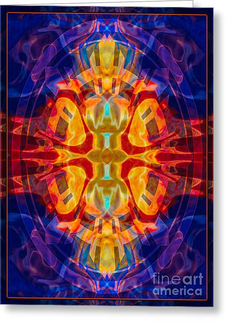 Mother Of Eternity Abstract Living Artwork Greeting Card