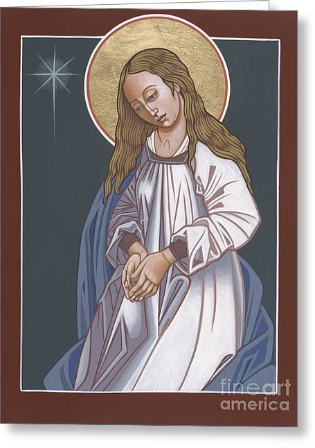 Mother Of God Waiting In Adoration 248 Greeting Card