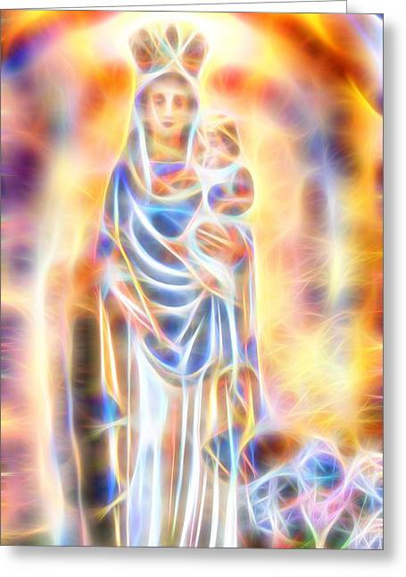 Mother Of Light Greeting Card
