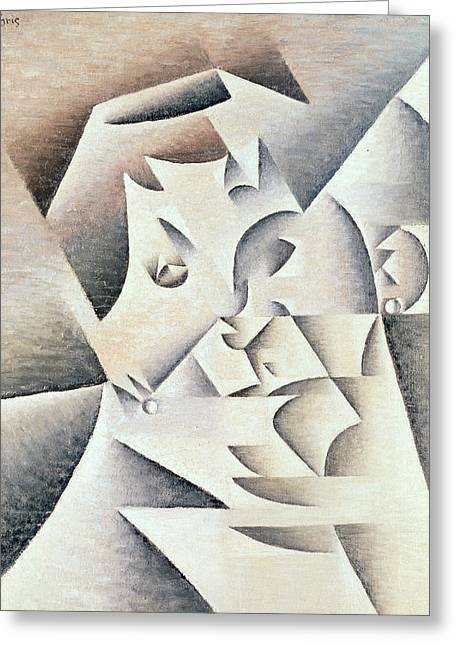 Mother Of The Artist Greeting Card by Juan Gris