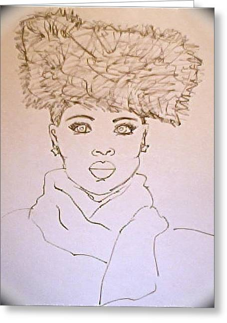 Mother Of The Church Sunday Morning Hat Greeting Card by Carmen  Jackson