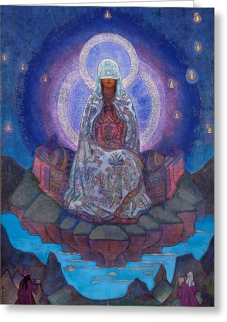 Mother Of The World Greeting Card by Nicholas Roerich