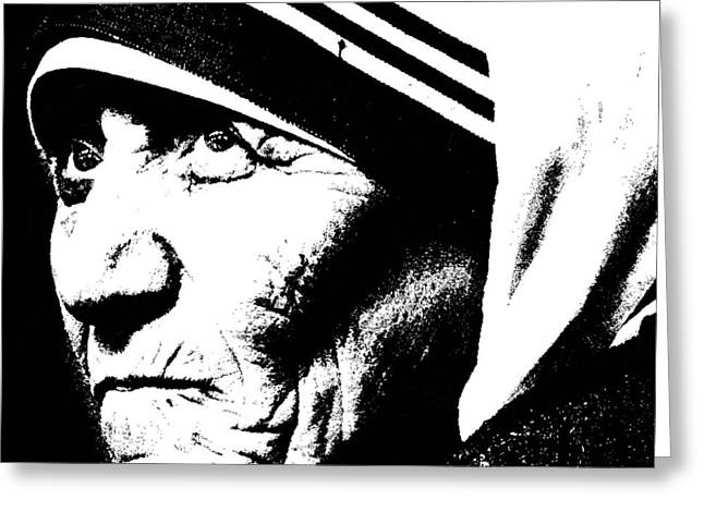 Mother Teresa Greeting Card by Penny Ovenden