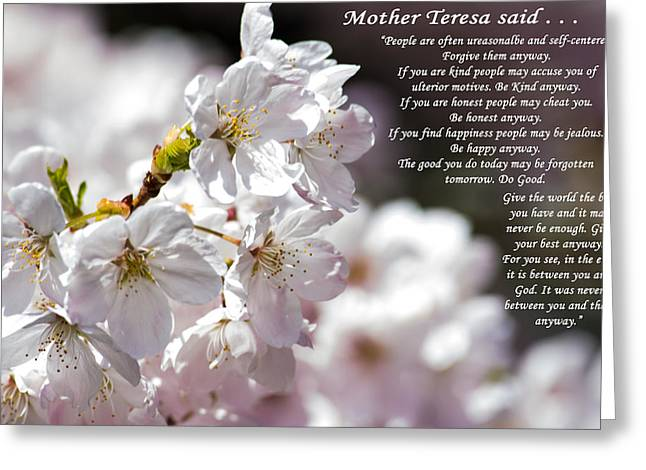 Mother Teresa Said Greeting Card