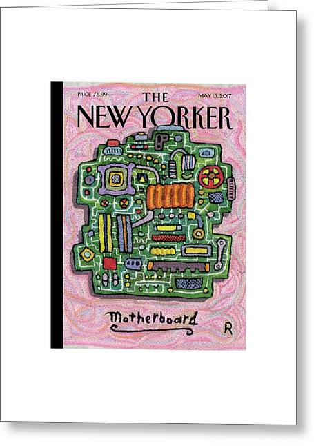 Motherboard Greeting Card by Roz Chast