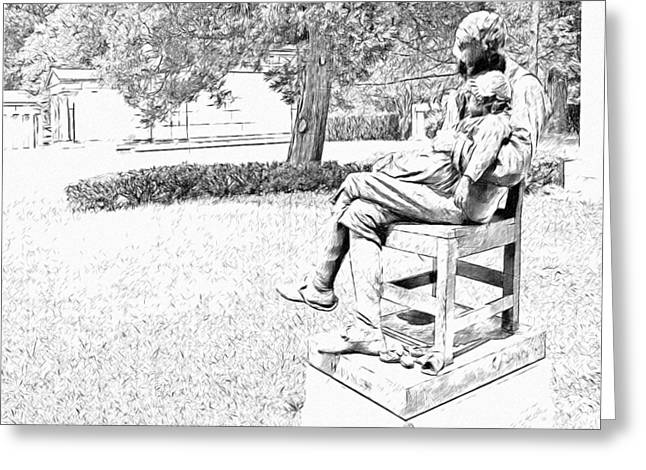 Motherless Sculpture By George Anderson Lawson Greeting Card