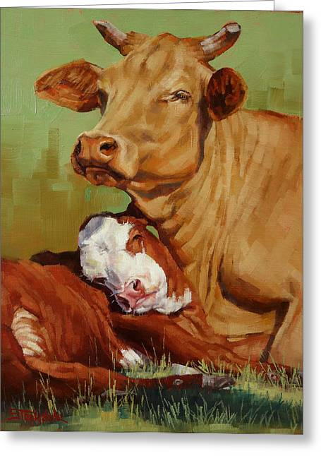 Motherly Love Greeting Card by Margaret Stockdale