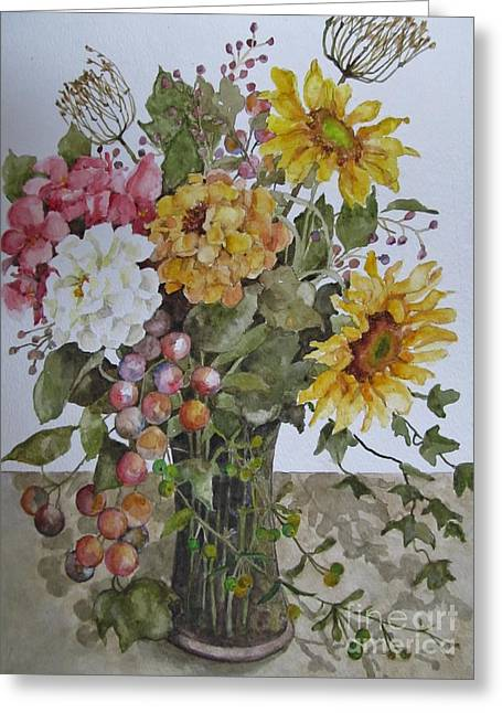 Mother's Day Bouquet Greeting Card by Karen Olson