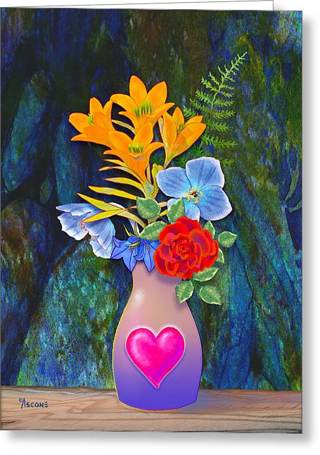 Mothers Day Bouquet Greeting Card by Teresa Ascone
