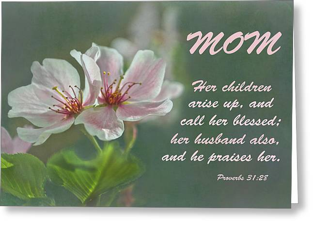 Mothers Day Card For Mom Greeting Card by Sandi OReilly