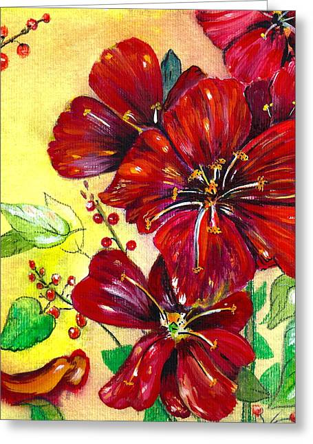 Mother's Day Red Velvet Greeting Card by M E Wood