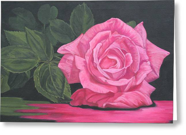 Mothers Day Rose Greeting Card by Wendy Shoults