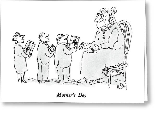 Mother's Day Greeting Card by William Steig
