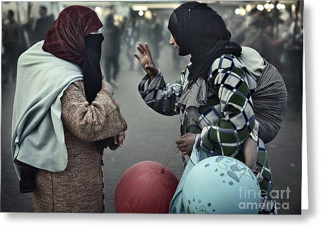 Greeting Card featuring the photograph Mothers Having A Ball by Michel Verhoef