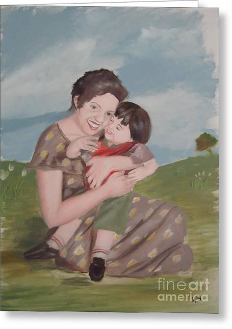 Mother's Love Greeting Card by Angela Melendez