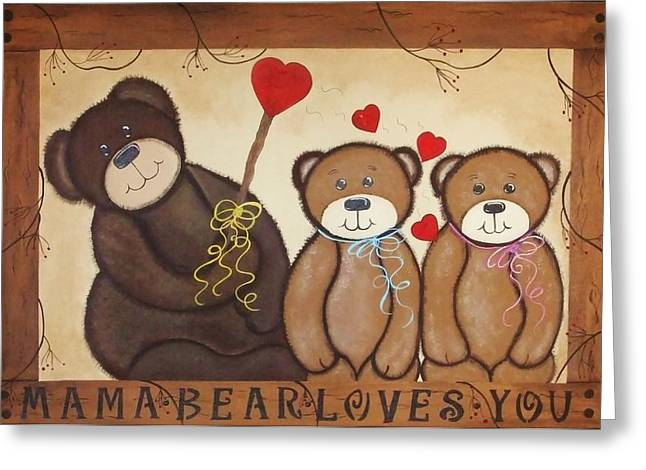 Mothers Love Greeting Card by Cindy Micklos