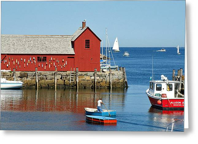 Rockport's Motif #1 Greeting Card by Jean Hall