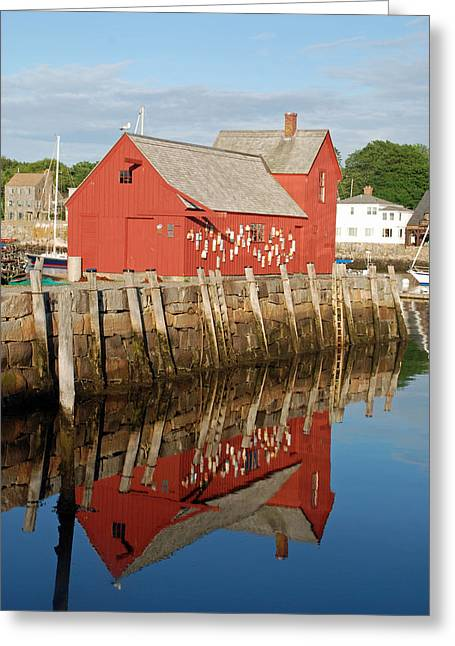 Greeting Card featuring the photograph Motif 1 With Reflection by Richard Bryce and Family