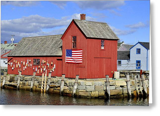 Greeting Card featuring the photograph Motif In Rockport by Caroline Stella