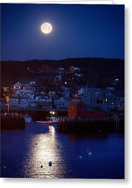 Motif Number 1 Moon Greeting Card by Jeff Folger