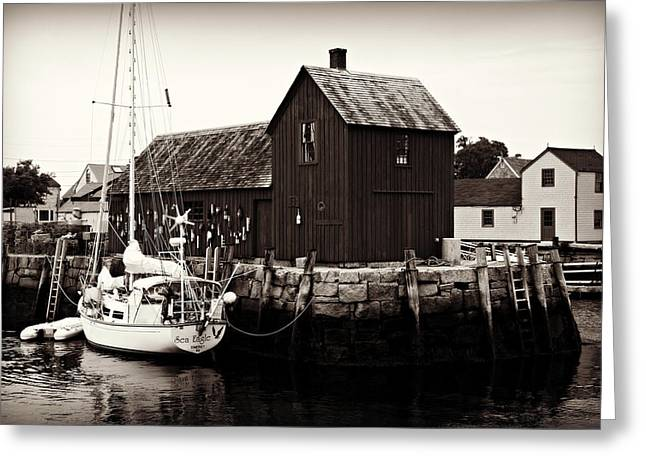 Motif Number 1 - Rockport Greeting Card by Stephen Stookey
