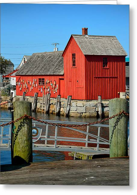 Motif Number One Rockport Lobster Shack Maritime Greeting Card by Jon Holiday