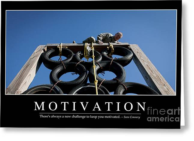 Motivation Inspirational Quote Greeting Card by Stocktrek Images