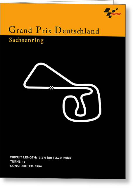 Moto Gp Germany Greeting Card by Mark Rogan