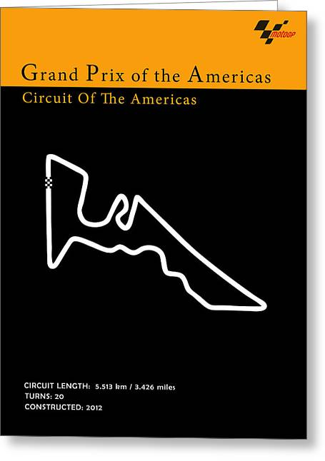 Moto Gp Of The Americas Greeting Card by Mark Rogan