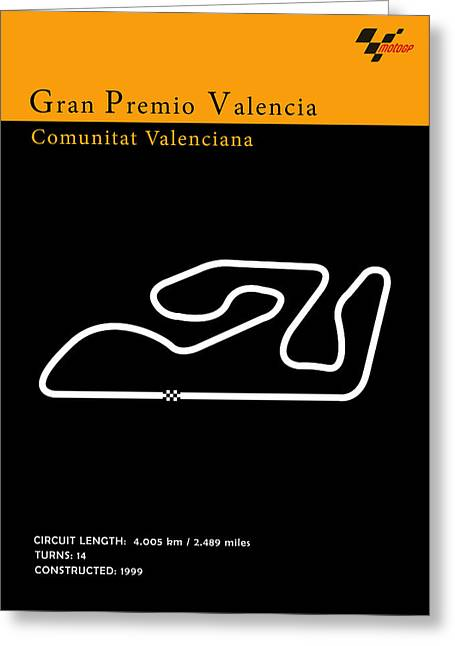 Moto Gp Valencia Greeting Card by Mark Rogan