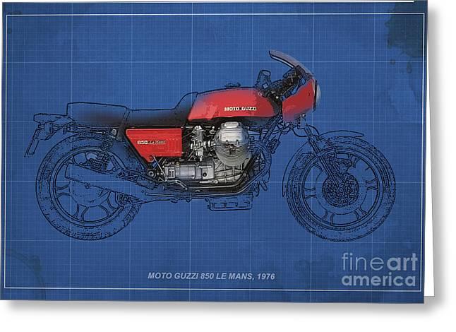 Moto Guzzi 850 Le Mans 1976 Greeting Card by Pablo Franchi