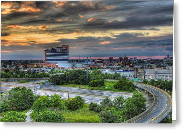 Motor City Casino Detroit Mi Greeting Card by A And N Art
