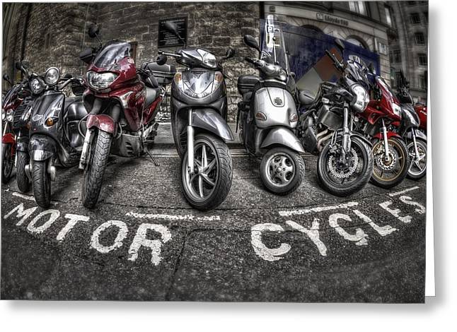 Motor Cycles Greeting Card