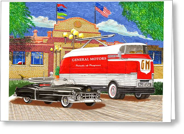 Motorama General Motors Mobile Showroom  On Tour Greeting Card