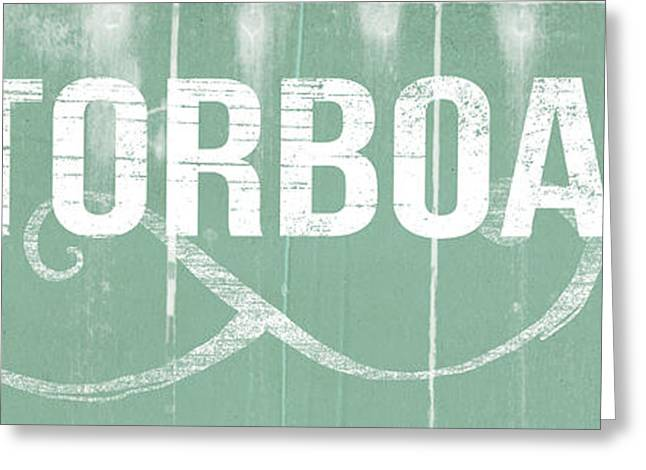 Motorboatin Greeting Card