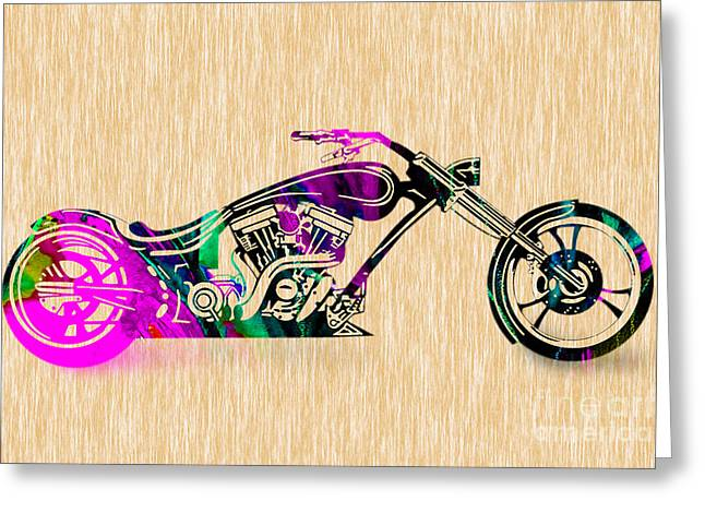 Motorcycle Painting Greeting Card