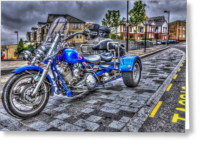 Motorcycle Rally 1 Greeting Card by Steve Purnell